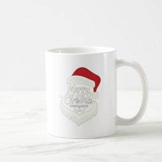 Santa Christmas White Minimalist Design Cute Gift Coffee Mug