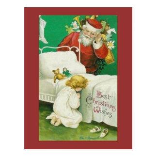 Santa Christmas Wishes Postcard