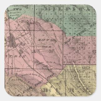 Santa Clara Co Square Sticker