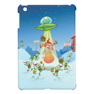 Santa Claus Abducted by a UFO just before Xmas iPad Mini Cover