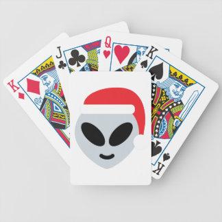 santa claus alien emoji bicycle playing cards