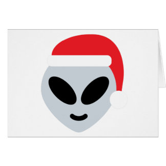 santa claus alien emoji card