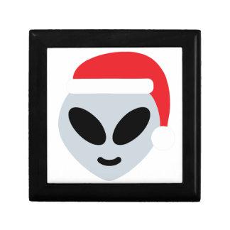 santa claus alien emoji gift box