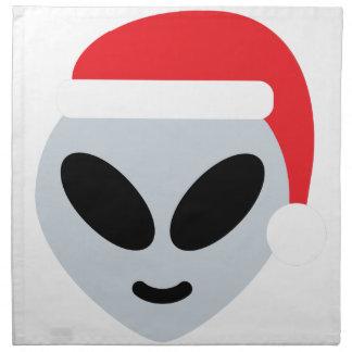 santa claus alien emoji napkin