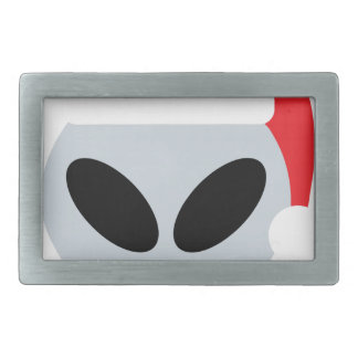 santa claus alien emoji rectangular belt buckle