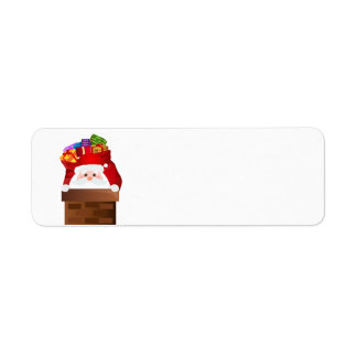 Santa Claus and a bag of gifts Return Address Label