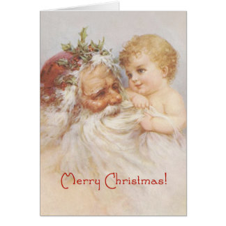 Santa Claus and Baby by Raphael Tuck Card