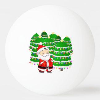Santa Claus and Christmas Tree Lot Ping Pong Ball