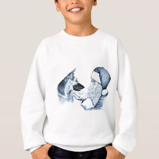 Santa Claus and German Shepherd Sweatshirt