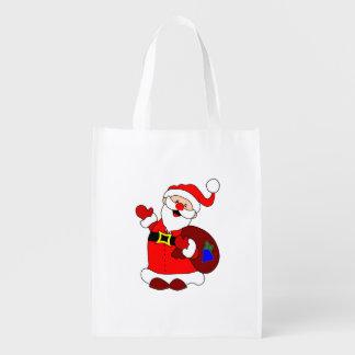 Santa Claus and gift bag clipart