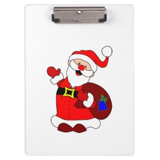Santa Claus and gift bag clipart Clipboard
