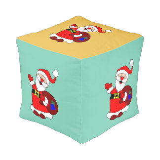 Santa Claus and gift bag clipart Pouf
