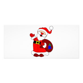 Santa Claus and gift bag clipart Rack Card