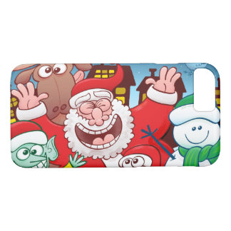 Santa Claus and his team are ready for Christmas iPhone 8/7 Case