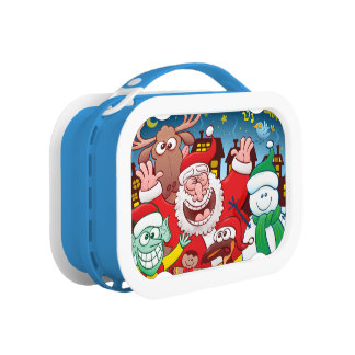 Santa Claus and his team are ready for Christmas Lunch Box