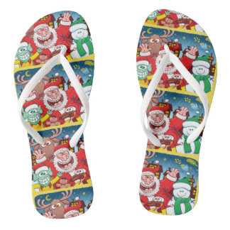 Santa Claus and his team are ready for Christmas Thongs
