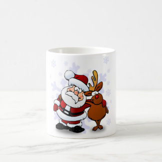 SANTA CLAUS AND RUDOLPH COFFEE MUG