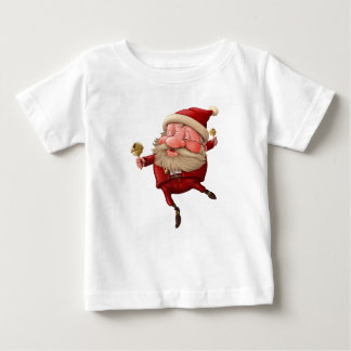 Santa claus and the bell's dancing baby T-Shirt