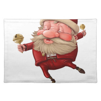 Santa claus and the bell's dancing placemat