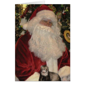 Santa Claus and the Ferret Card