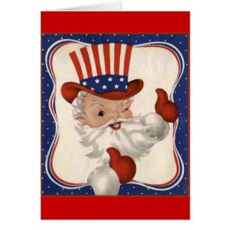 Santa Claus as Uncle Sam Card