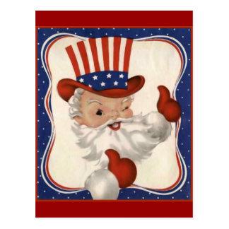 Santa Claus as Uncle Sam Post Cards
