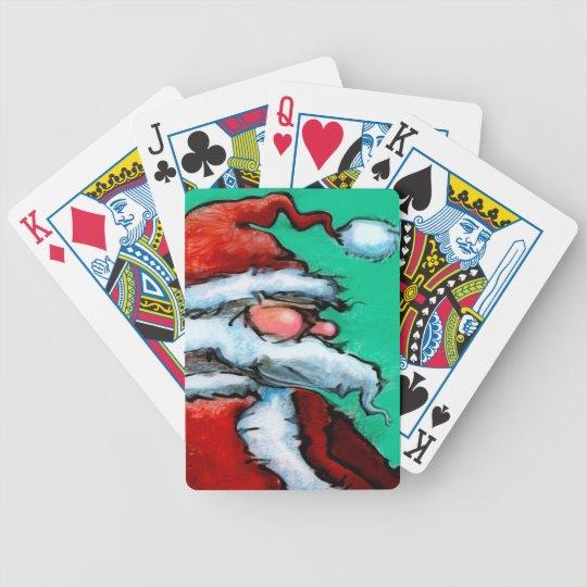 Santa Claus Bicycle Playing Cards