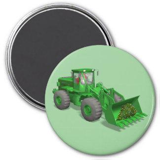 Santa Claus Bulldozer Operator 7.5 Cm Round Magnet