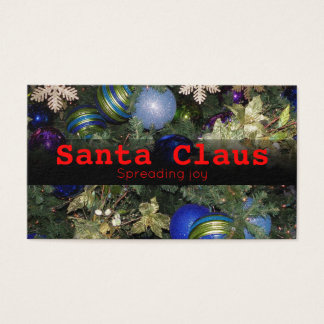 Santa Claus business card for fun or professional