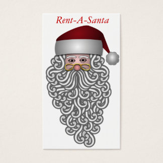 Santa Claus Business Card. Rent a Santa Business Card
