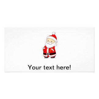 Santa Claus cartoon Photo Greeting Card