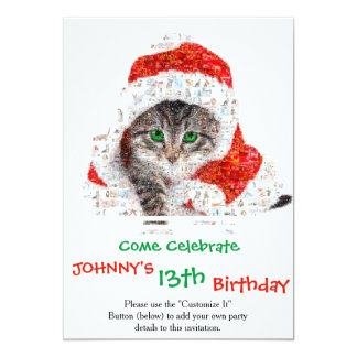 santa claus cat - cat collage - kitty - cat love card