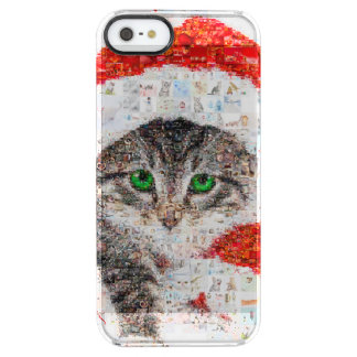 santa claus cat - cat collage - kitty - cat love clear iPhone SE/5/5s case
