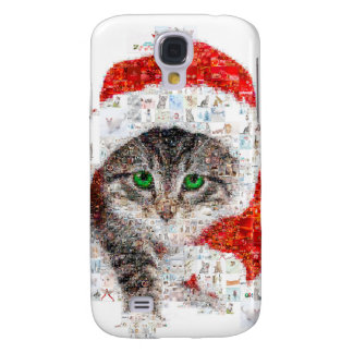 santa claus cat - cat collage - kitty - cat love galaxy s4 cover