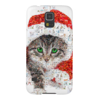 santa claus cat - cat collage - kitty - cat love galaxy s5 cover