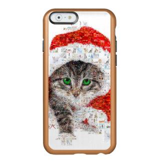 santa claus cat - cat collage - kitty - cat love incipio feather® shine iPhone 6 case