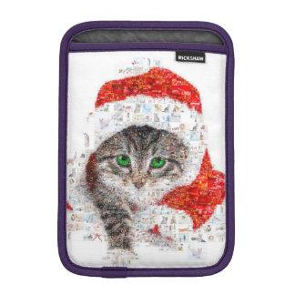 santa claus cat - cat collage - kitty - cat love iPad mini sleeve