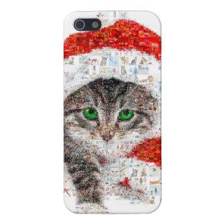 santa claus cat - cat collage - kitty - cat love iPhone 5/5S case