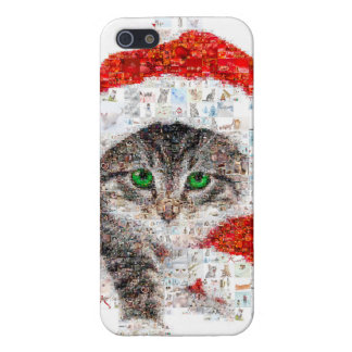 santa claus cat - cat collage - kitty - cat love iPhone 5 cover
