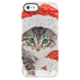 santa claus cat - cat collage - kitty - cat love permafrost® iPhone SE/5/5s case