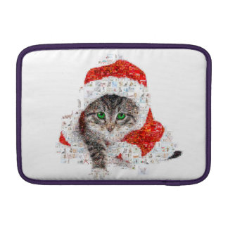santa claus cat - cat collage - kitty - cat love sleeve for MacBook air