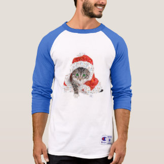 santa claus cat - cat collage - kitty - cat love T-Shirt