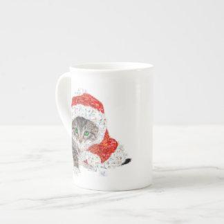 santa claus cat - cat collage - kitty - cat love tea cup