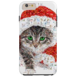 santa claus cat - cat collage - kitty - cat love tough iPhone 6 plus case