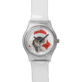 santa claus cat - cat collage - kitty - cat love watch