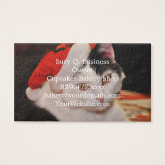 Santa claus cat - merry christmas - pet cat business card