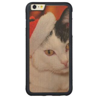 Santa claus cat - merry christmas - pet cat carved maple iPhone 6 plus bumper case