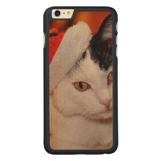 Santa claus cat - merry christmas - pet cat carved maple iPhone 6 plus case
