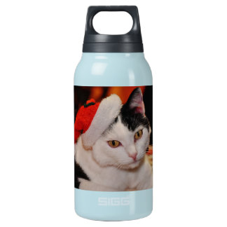 Santa claus cat - merry christmas - pet cat insulated water bottle