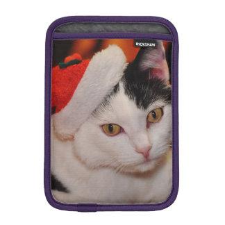 Santa claus cat - merry christmas - pet cat iPad mini sleeve